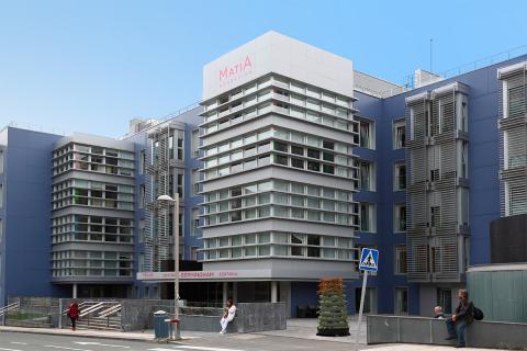 Hospital Ricardo Bermingham, fachada